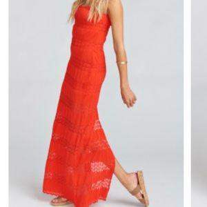 Show Me Your Mumu Red Maxi Dress